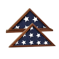 Genuine Walnut Flag Display Case | Flag Display Case