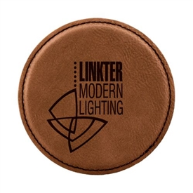 Laserable Leather Round Coaster