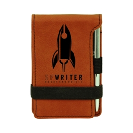 Laserable Leather Memo Pad & Pen
