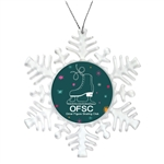 Clear Customizable Snowflake Holiday Ornament