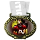 Football Medal in Jam Oval Insert | Football Award Medal
