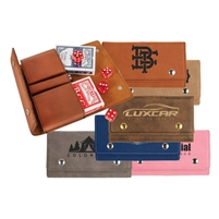 Laserable Leather Card & Dice Set | Card Gift Set