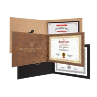 Personalized Leather Certificate Holder | Certificate Holder