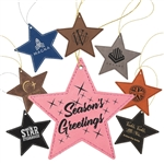 Customizable Leatherette Star Holiday Ornament