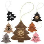 Customizable Leatherette Tree Holiday Ornament