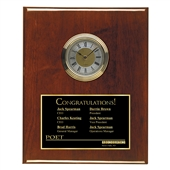 Award Clock Plaque