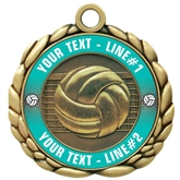 Volleyball Medal 2-1/2""