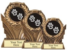Dog Resin Trophy