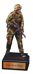 Military Resin Award Trophy