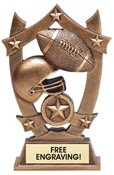 Football Sculpted Resin Trophy