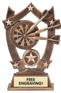 Darts Sculpted Resin Trophy