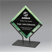 Green Galaxy Acrylic Plaque award